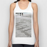 writing Tank Tops featuring Lake Louise sand writing by RMK Creative