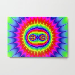 Athene Rainbow Metal Print