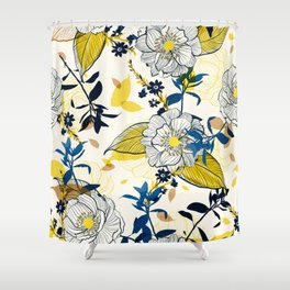 Flowers patten1 Shower Curtain