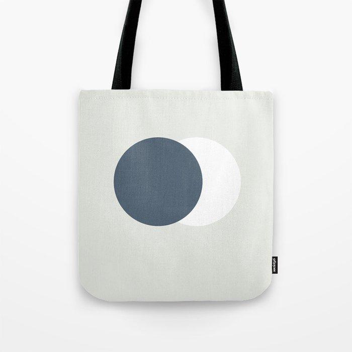Earth Moon Hug Tote Bag