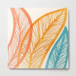 Tropical Flora - Retro Palette Metal Print