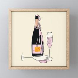 Fancy Champagne Framed Mini Art Print