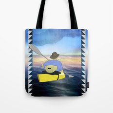Kayak Man Tote Bag