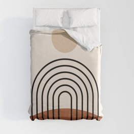 Abstraction_SUN_LINE_BOHEMIAN_LANDSCAPE_POP_ART_1129B Duvet Cover