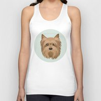yorkie Tank Tops featuring Yorkshire Terrier Pattern by Mari Anrua