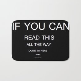 if you can read this new 2018 word typography art funny words fun Bath Mat