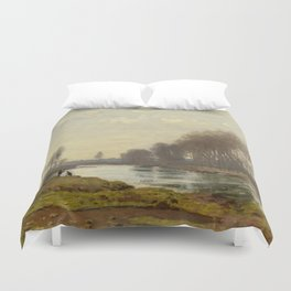 The Petite Bras of the Seine at Argenteuil by Claude Monet Duvet Cover