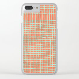 Left - Orange and green Clear iPhone Case