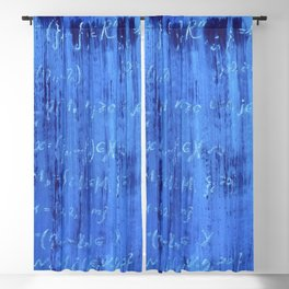 Blue mathematical equations pattern Blackout Curtain