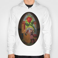 beauty and the beast Hoodies featuring Beauty and the Beast by Jillian Stanton