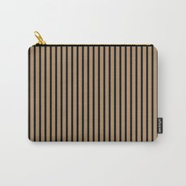 Iced Coffee and Black Stripes Carry-All Pouch