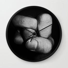 Tangled fist Wall Clock