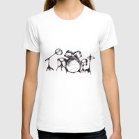 drums T-shirts featuring Drums by Jake Stanton