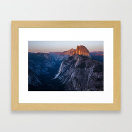 Sunkissed Half Dome at Sunset Framed Art Print
