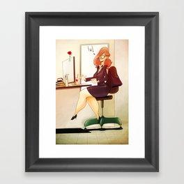 Secretary Framed Art Print