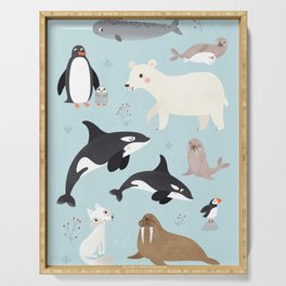 Nursery Arctic Animals POSTER Serving Tray