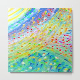 Sparkle Abstract Metal Print