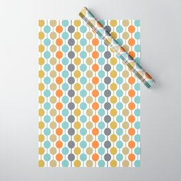 Retro Circles Mid Century Modern Background Wrapping Paper