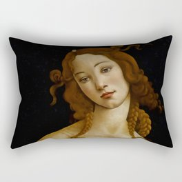 "Sandro Botticelli ""Venus"" (Sabauda Gallery, Turin) Rectangular Pillow"