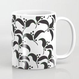 Abstract Art Graphic Black Leaves Coffee Mug