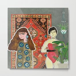 Secret Lovers Metal Print