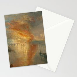 The Burning of the Houses of Lords and Commons, 16 October 1834- Joseph Mallord WIlliam Turner Stationery Cards