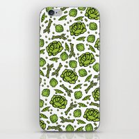 vegetables iPhone & iPod Skins featuring Green Vegetables by Alisa Galitsyna
