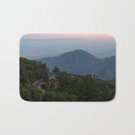 Mountain Drive at Sunset (Running Springs, California) Bath Mat