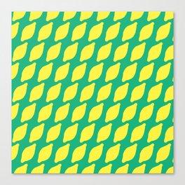 Sour Lemons Summer Pattern Canvas Print