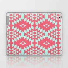aztec Inspired Pattern Teal & Pink Laptop & iPad Skin