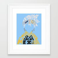 soul eater Framed Art Prints featuring soul eater evans by Rebecca McGoran