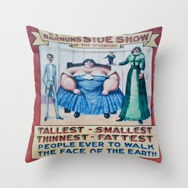 Side Show Throw Pillow