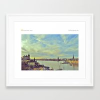 stockholm Framed Art Prints featuring Stockholm by In Full Color