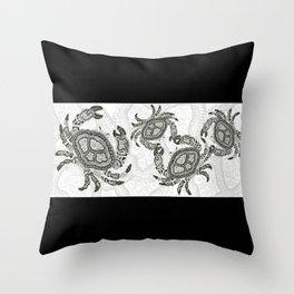 Dancing Crabs Throw Pillow