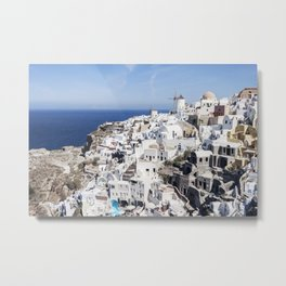 White Village in Oia, Santorini, Greece Metal Print