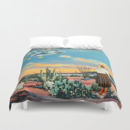 They were here before us Duvet Cover