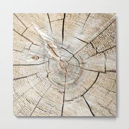 Wood Cut Metal Print