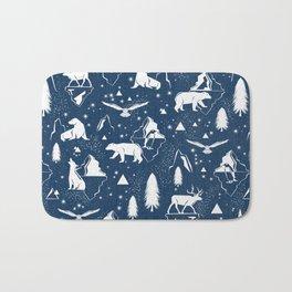 Arctic Circle - Blue Bath Mat