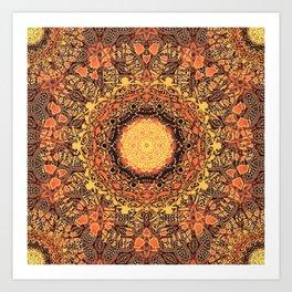 Marigold Mandala Art Print