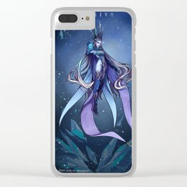 The Goddes of Ice Clear iPhone Case