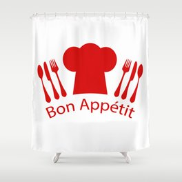 Bon Appetit! Shower Curtain