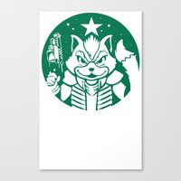 starfox Canvas Prints featuring Starfox Coffee by Jimiyo