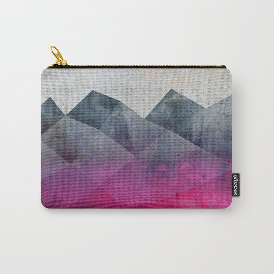 Pink Concrete Carry-All Pouch
