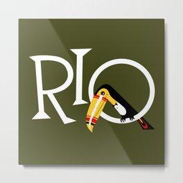 Travel to Rio Metal Print