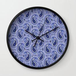 KyellBlue2...RainingPaisleys Wall Clock