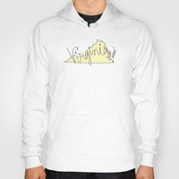 virginia Hoodies featuring Virginia - Yellow by Oh Happy Roar - Emily J. Stivers