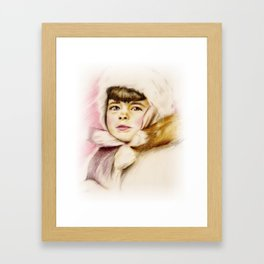 Pastel Drawing of Janie Framed Art Print