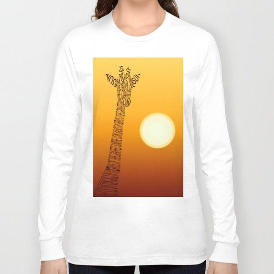Giraffe and sun Long Sleeve T-shirt
