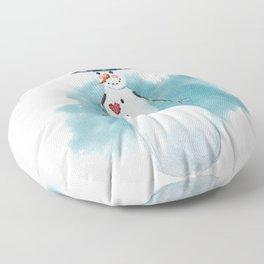 Thin Snowman Floor Pillow