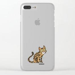 Cat - Bengal cat Clear iPhone Case